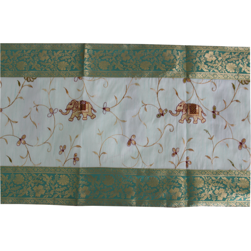Embroidered Table/Bed Runner (Green)