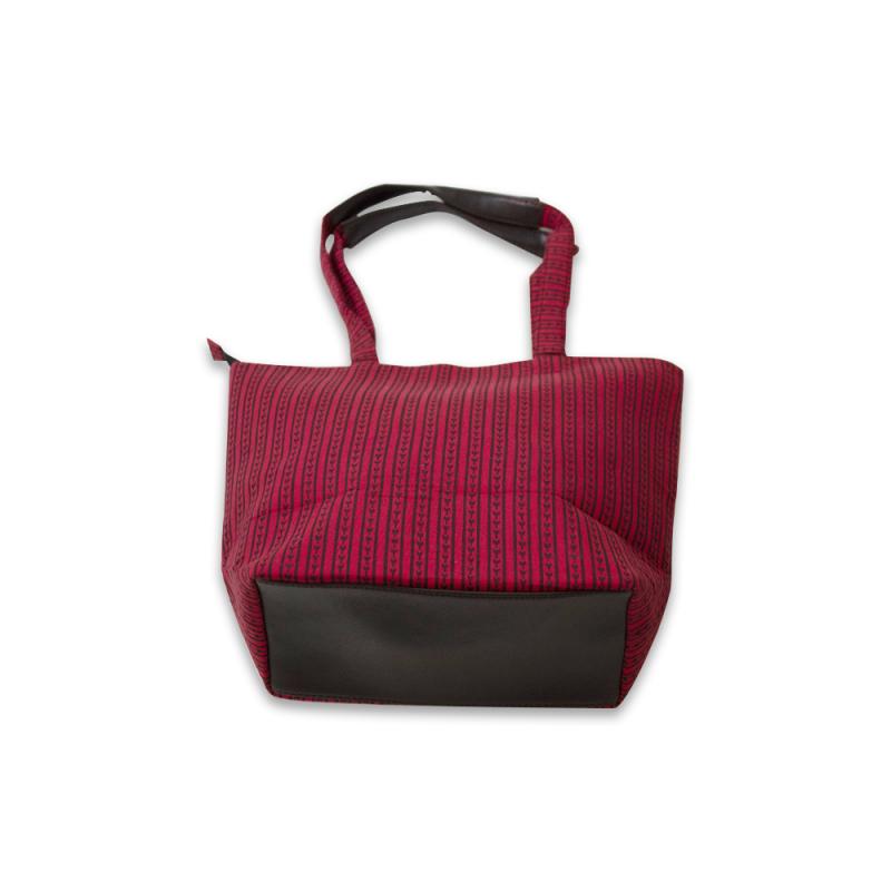 Handcrafted Red Cotton Handbag