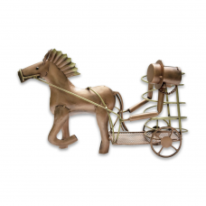 Horse Cart Shaped Iron Bottle Holder