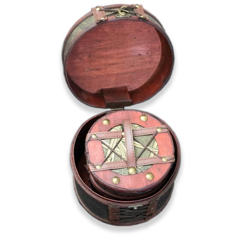 Wood & Leather Decorative Box