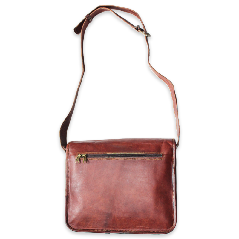 Full Flap Leather Side Bag