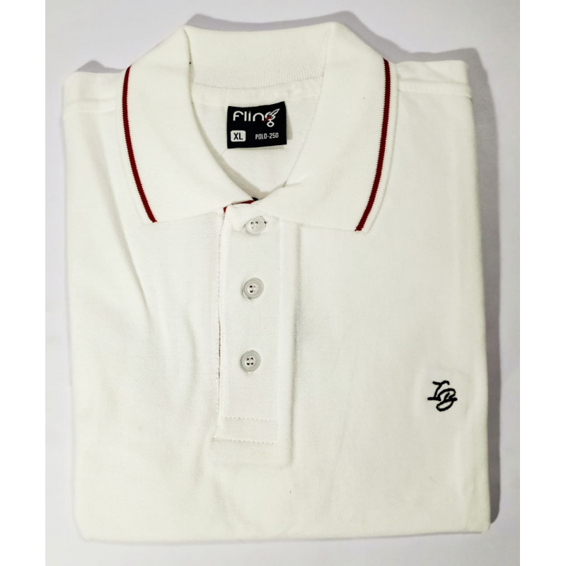 IB FLING POLO T-SHIRT WHITE