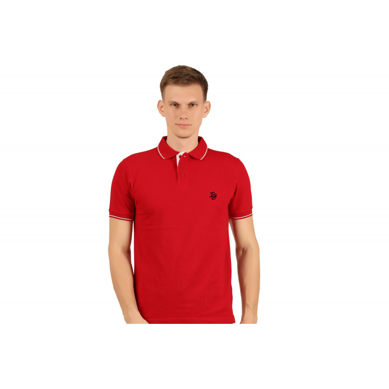 IB FLING POLO T-SHIRT RED