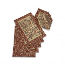 Hand-block Printed Table Mat Set (Pack Of 6)