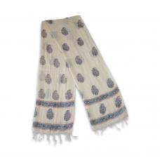 Handloom Cotton Stole (Blue)