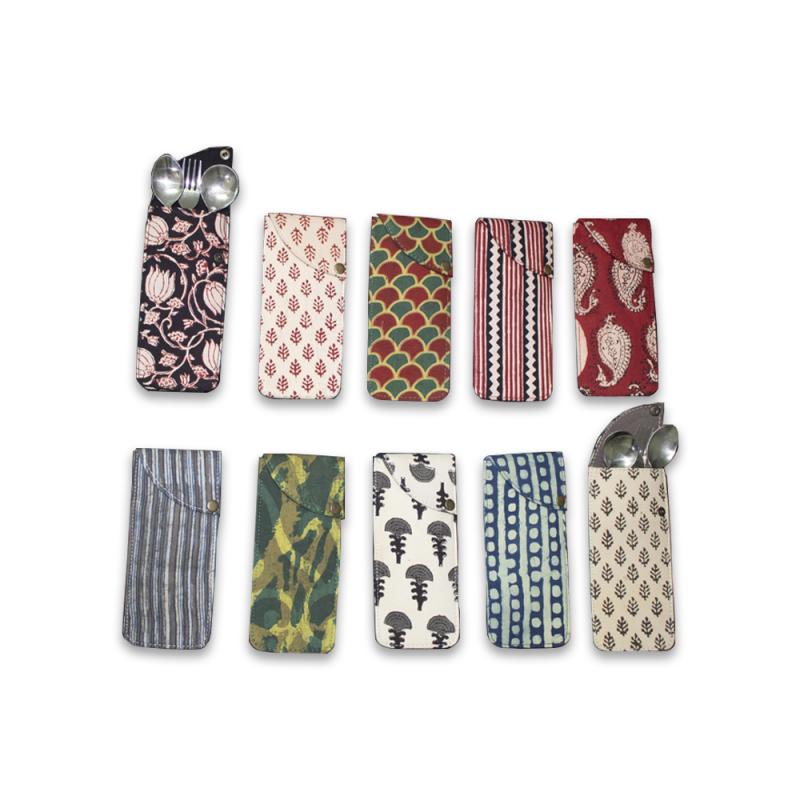 Spoon & Fork Cotton Pouch (set of 10 pouches)