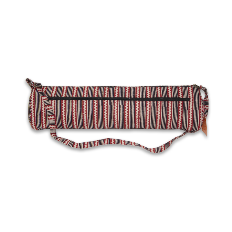 Handcrafted Yoga Mat Bag (Red)
