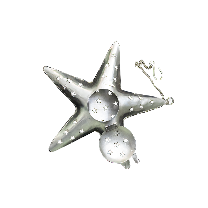 Star-shaped Iron Candle Holder (set of two)