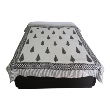 Hand Block Printed Quilted Single Bedspread