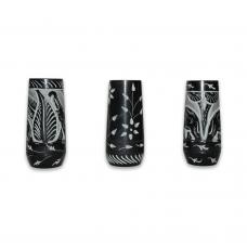 Black Stone Candle Holder (set of 3)